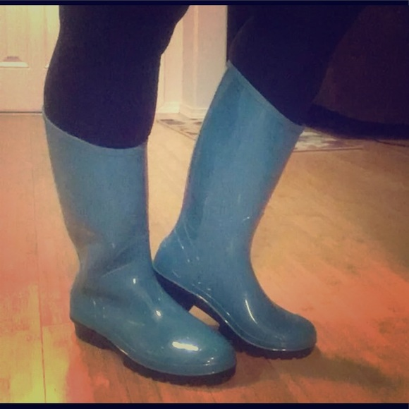 """623dfb499f9 Columbia """"Rainey"""" Tall Rain Boots, Teal, EUC, sz 8"""